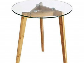 POLY & BARK COSTANOA GLASS SIDE TABLE CLEAR