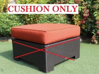FABRIC COFFEE TABLE/BENCH CUSHION - CUSHION ONLY