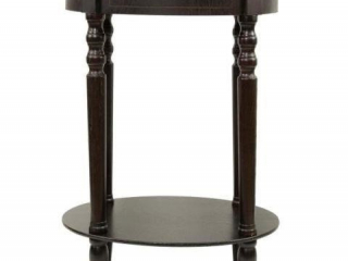 DECOR THERAPY SIMPLIFY ESPRESSO OVAL END TABLE