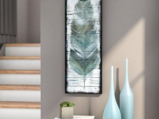 WEXFORD ART ON CANVAS STAINED FEATHER 12