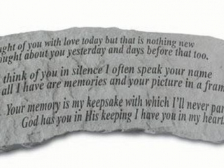 KAY BERRY STONE BENCH - I THOUGH OF YOU WITH LOVE
