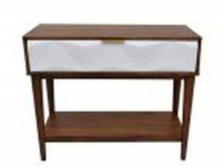 ETTORE WHITE CONSOLE TABLE