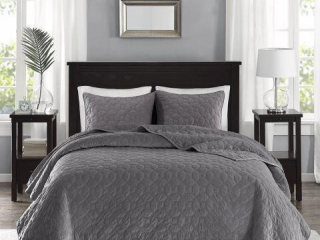 MADISON PARK HARPER VELVET FULL QUILT BEDDING SET