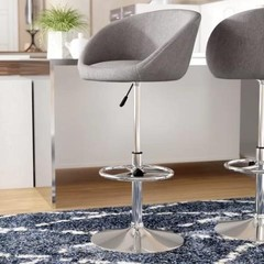 2 PIECES NORDIN ADJUSTABLE HEIGHT SWIVEL BAR STOOL