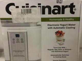 CUISINART ELECTRONIC YOUGURT MAKER W/