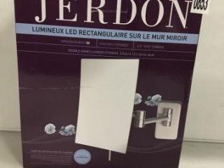 JERDON RECTANGULAR WALL MIRROR
