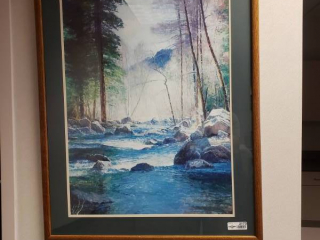 Large framed artwork-