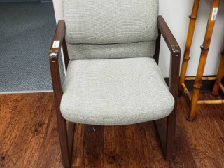 HON padded wood frame arm chair