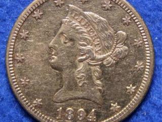 1894-O Gold Liberty $10 Coin