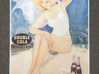 1939 Double Cola Poster w/ COA