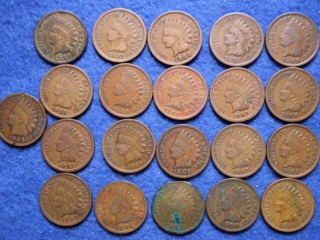 21 Indian Head Cents