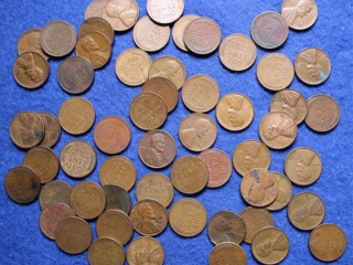 59 Wheat Lincoln Head Cents, Penny Lot