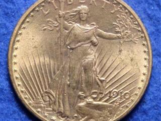 1910 Gold $20 Saint Gaudens Coin