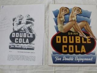 Double Cola Die Cut Cardboard Display