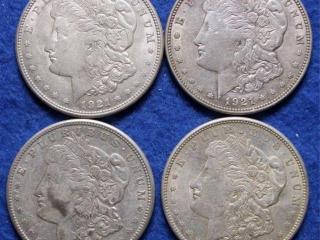 4 Morgan Silver Dollars
