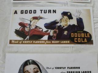 3 Double Cola Advertising Displays