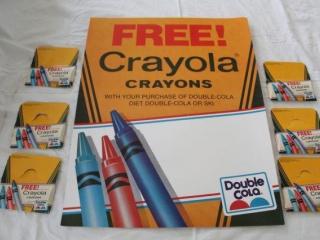 Crayola Double Cola Poster & Crayons