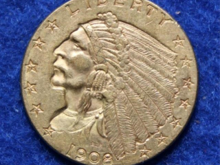 1908 Gold $2.50 Indian Head Coin