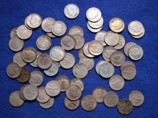 63 Silver Roosevelt Dimes
