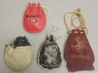 (4) Bags Full Of Vintage Marbles