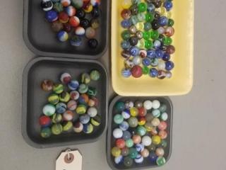 Large Assortment of Vintage Marbles