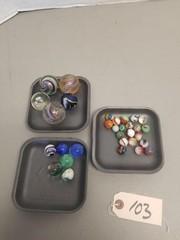Assorted Vintage Marbles