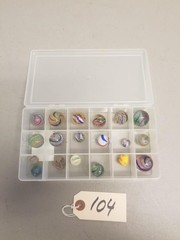 Assorted Vintage Peppermint Swirl Marbles