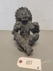 Early Redware - Teracotta Native American Figure