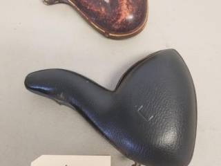 Early Handcarved Tobacco Pipe with Case