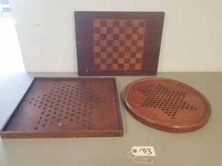(3) Vintage Game Boards