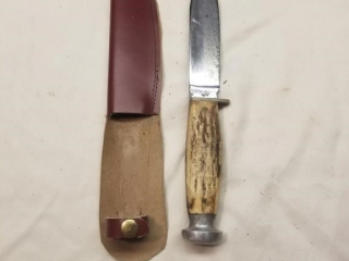 Case marked fixed blade