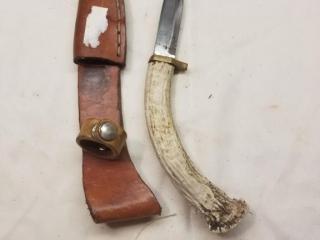 Brusletta bone handled fixed blade