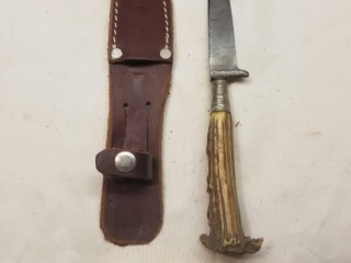 Unmarked German bone handled fixed blade