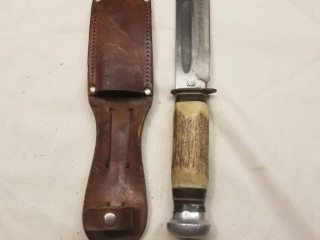 German Pie fixed blade with blood groove