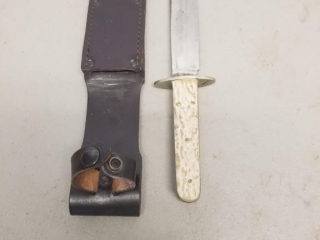 Unmarked Bone handled Bowie knife