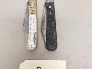 2 Schrade Switch Blade Knives