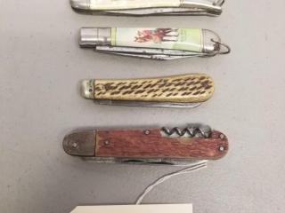 4 assorted Vintage folding knives
