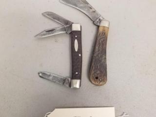 2 Vintage Case XX folding knives