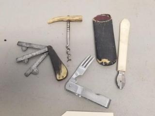VIntage knife & tools lot