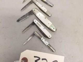 5 Vintage German folding knives