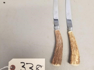 2 Abbotts, England bone handle knives