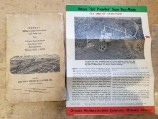 Ottawa Super Buzz Master Manual & Booklet