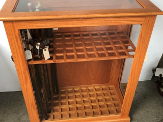 Hand Crafted Oak Cane Cabinet