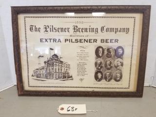1892 Pilsner Brewing Co. Advertisement