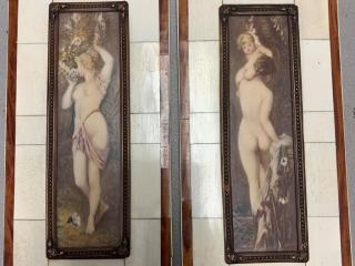 2 Hans Makart Handpainted Erotica Miniatures