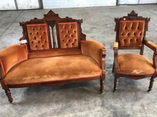 Victorian Chair & Sofa