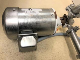 Milk pump w/Sterling motor