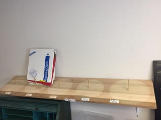 Chart recorder shelf & new charts