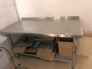 30? x 60? stainless steel table