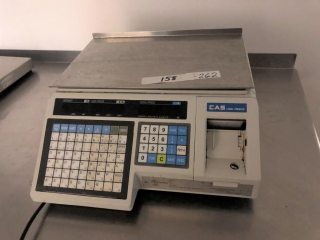 CAS digital scales and label printer